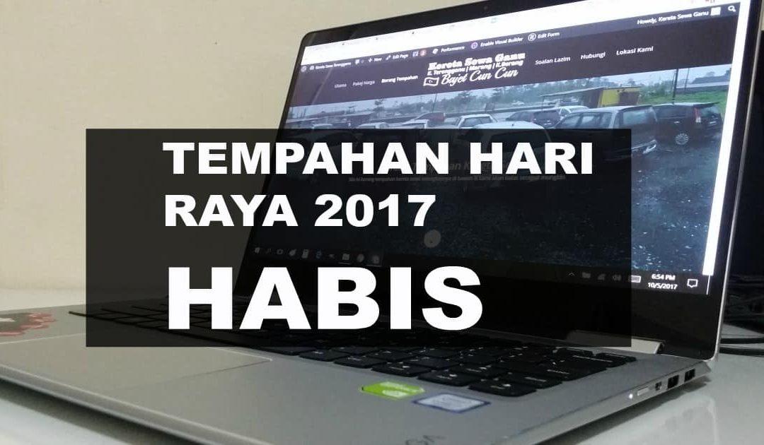 Tempahan Raya 2017 Sewa Kereta Terengganu – HABIS